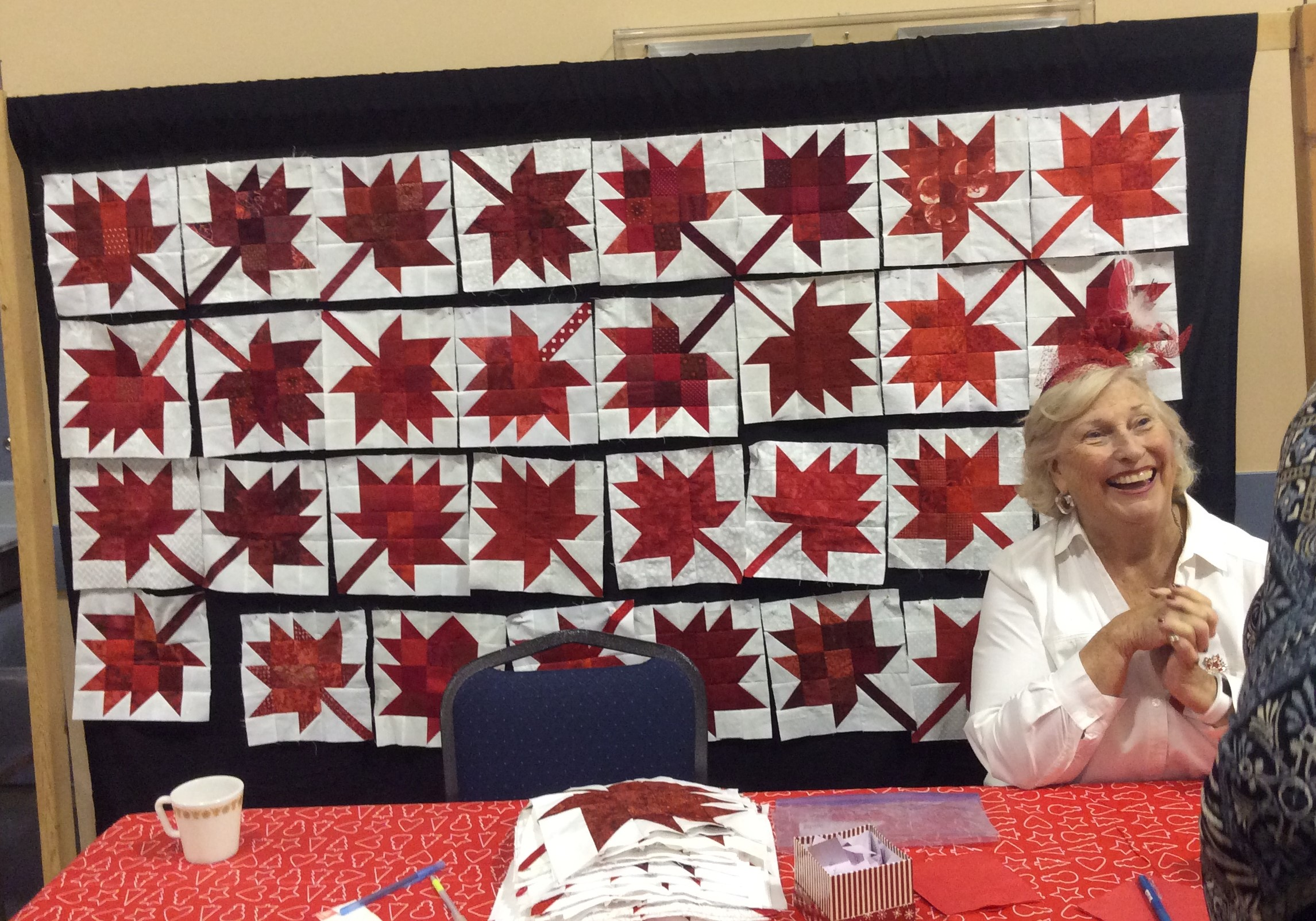 Numerous quilters made the Canada 150 block to enter to win